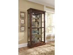 Pulaski Furniture Curio Cabinet by Pulaski Furniture Curios Medallion Cherry Two Way Sliding Door