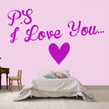 p s i love you heart embellishment love quotes wall sticker home p s i love you heart embellishment love quotes wall sticker home decor art decal