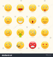 emoticons set emoji icons yellow color stock vector 472331830