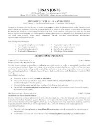 Sample Business Resume Entry Level Cover Letter Example Pharmaceutical Sales Resume