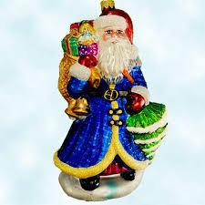 radko christmas ornaments vintage sapphire santa pine tree 1999
