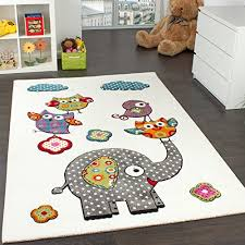 tapis chambre bebe children s room rug colourful zoo animals owls and elephants
