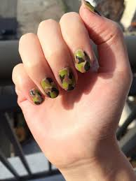 camouflage nail art design popsugar beauty