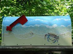 Nautical Themed Mailboxes - hand painted beach art mailboxes http www beachblissdesigns