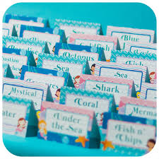 the sea party the sea party food tents mermaid pdf birthday