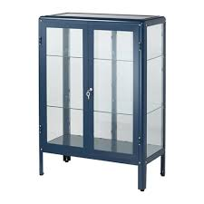 display cabinet with glass doors fabrikör glass door cabinet black blue blue glass doors doors
