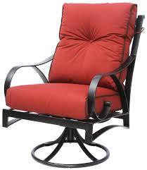 Patio Swivel Rocker Chair by Newport Cast Aluminum Outdoor Patio Swivel Rocker Chair With
