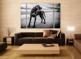 b u0026w weimaraner portrait canvas print 3 panels print animal wall