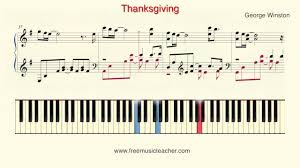 how to play piano george winston thanksgiving piano tutorial by