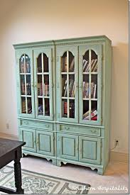 Green Bookshelves - painting a bookcase miss mustard seed u0027s milk paint southern