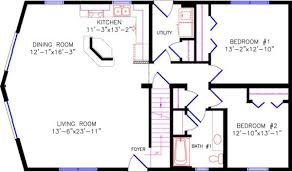 2 bedroom with loft house plans chalet