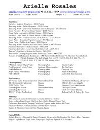 Resume Samples Teaching by Dancer Resume Sample Resume For Your Job Application