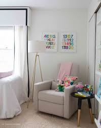 Small Bedroom Glider Chairs Easy Updates For A Fresh And Functional Nursery And A Giveaway