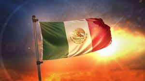 Mexico Flags Mexico Flag Backlit At Beautiful Sunrise Loop Slow Motion 4k