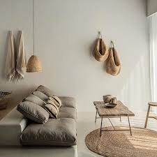 home furniture decor minimal linen wood organic interior decor and design home