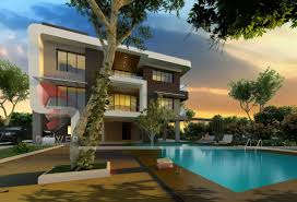 villa rendering 3d architectural villa visualization 3d bungalow