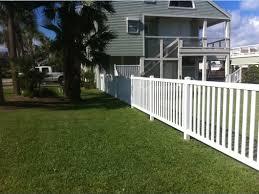 vinyl fence pool fence custom built galveston tx