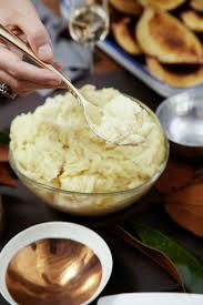 thanksgiving potatoes how to make three cheese mashed potatoes delish com