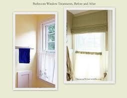Ideas For Bathroom Window Treatments Bathroom Window Treatments Like This Treatment But Design
