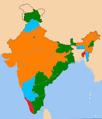 India Map Of States by List Of Current Indian Chief Ministers Wikipedia