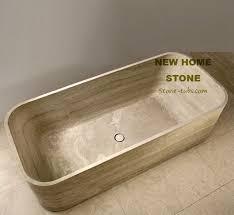 Travertine Bathtub Travertine Designer Soaking Tub Rectangular Luxury Bathtub Cut Out