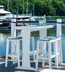 Pub Patio Furniture Patio Furniture Bar Tables Sym Pub American Recycled Plastic