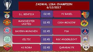Jadwal Liga Chion Jadwal Liga Chion Pekan 6 6 Desember 2017 Grup A B C D