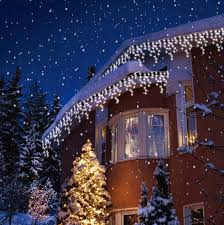snowing icicle outdoor lights white 480 christmas led snowing icicle bright party wedding xmas