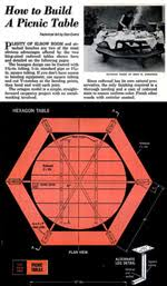 hexagon picnic table plans how to build a hexagonal picnic table