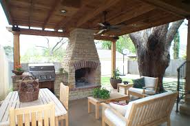 Living Room Design Brick Fireplace Enticing Outdoor Living Room Under Wooden Pergola And Brick