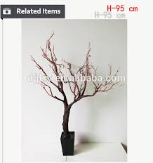 wooden real looking artificial tree wedding table tree