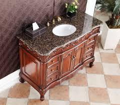 48 Bathroom Vanity With Granite Top by 48 Inch Classic Old Look Bathroom Vanity Sierra Brown Granite Top