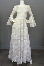 mexican wedding dress 1970s vintage mexican wedding dress with bell sleeves and lace