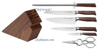 made kitchen knives walnut wood handle german knives wood handle knife forged