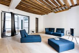 minimalist apartment design focused on raw materials and pure