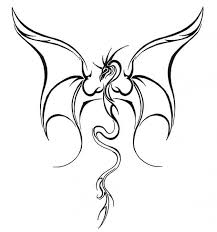 simple flying dragon tattoo design make on paper jpg 630 673