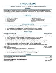 Resume Accomplishments Examples by Best Human Resources Manager Resume Example Livecareer