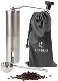 Coffee Grinder Tray Deluxe Manual Coffee Grinder Set By Bar Brat Complete Set With