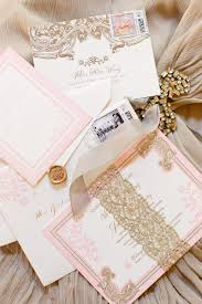 Blush Pink Decor by Outdoor Wedding With Pink Gold Décor At A Vineyard In California