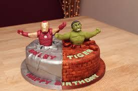iron man u0026 the incredible hulk cake half u0026 half superhero cake