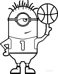 Minion Turn Basketball Coloring Page Wecoloringpage Basketball Color Page