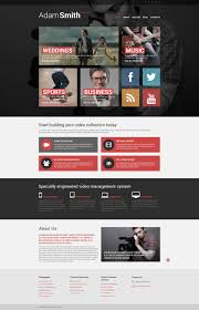 videographer responsive website template 51055