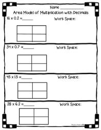 5 nbt b 7 area model with multiplication of decimals worksheet