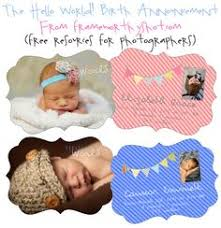 free birth announcement templates from goldygatets photography