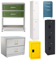 Metal Locker Nightstand Metal Locker And Filing Cabinet Inspiration Apartment Therapy