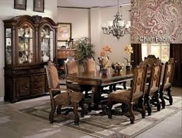 Neo Renaissance Formal Dining Room Furniture Set with Optional China