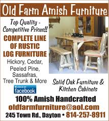 amish rustic log furniture dayton smicksburg pa complete