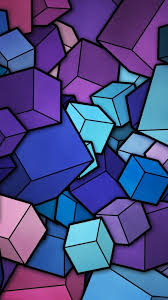 abstract cyan purple cubes iphone 6 plus hd wallpaper hd