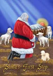 santa and baby jesus picture impressioniartistiche trish biddle santa baby christmas