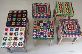 granny square stool covers crochet ideas and tips juxtapost